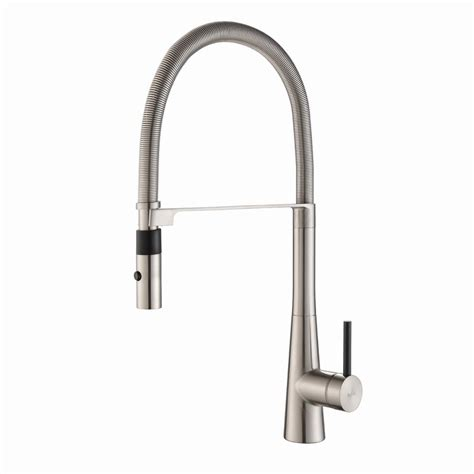 industrial kitchen faucets stainless steel kraus crespo flex single handle commercial style kitchen faucet with dual function sprayer in