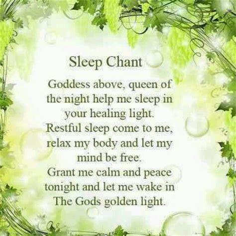 wiccan prayer sleep chant pagan wiccan pagan everything