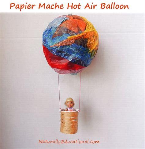 paper mache balloon crafts air balloon craft inspired by american saige