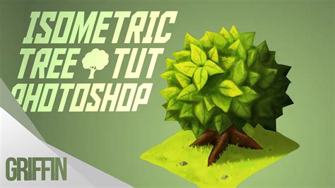 tree photoshop tutorial how to paint a tree in photoshop isometric