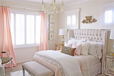 pink bedrooms pink and gold s bedroom makeover randi garrett design