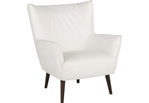 White Leather Accent Chair by Hansel White Accent Chair Accent Chairs White