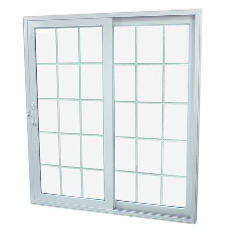patio sliding glass doors lowes shop securaseal 71 in low e argon grilles between glass composite sliding patio door at lowes