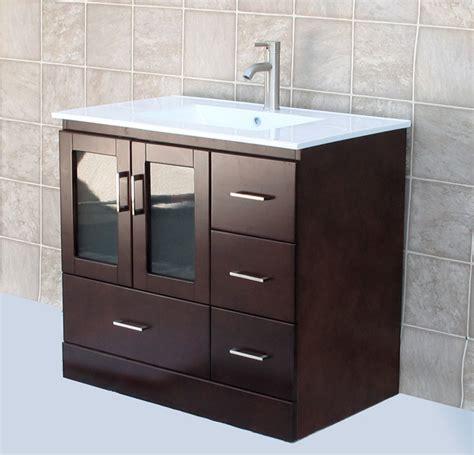 36 Bathroom Vanity Cabinet 36 Quot Bathroom Vanity Cabinet Ceramic Lavatory Top With Integreted Sink Faucet Mct Ebay