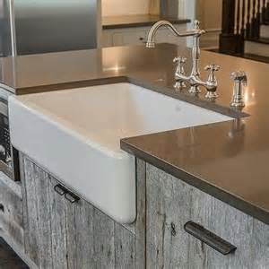 kitchen barn sink gray reclaimed wood kitchen island with farmhouse sink