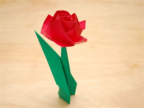 origami paper roses how to fold a paper with pictures wikihow