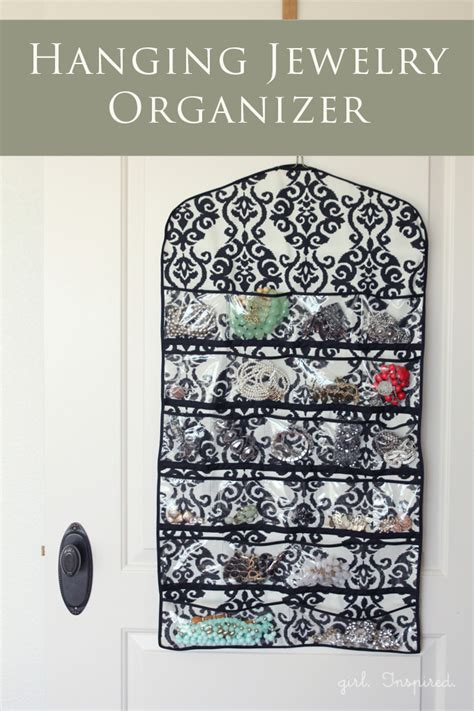 how to make a hanging jewelry organizer hanging jewelry organizer inspired