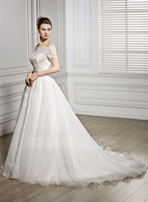 Gown The Shoulder Court Organza Lace