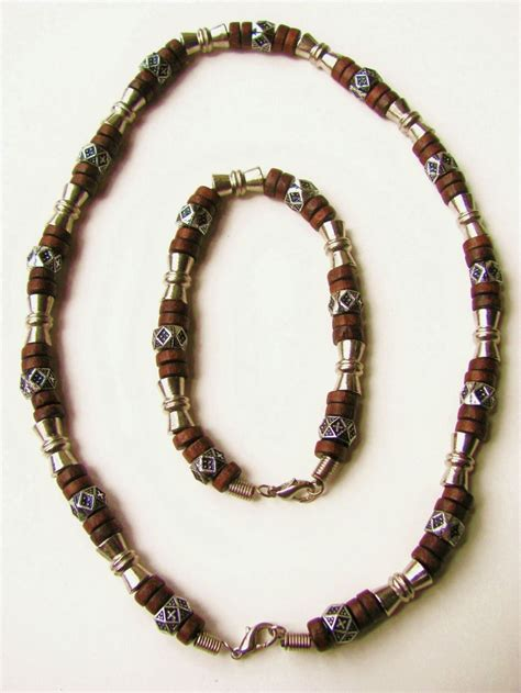 mens beaded necklaces salem beaded necklace bracelet s surfer style