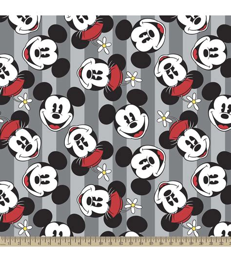 minnie mouse knit fabric disney mickey and minnie fleece fabric at joann