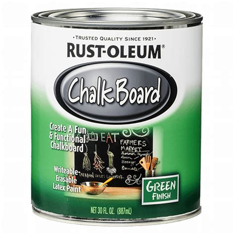 chalkboard paint rustoleum colors rust oleum 206540 quart chalkboard brush on black at
