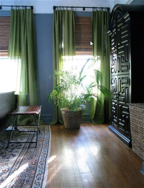 green walls grey curtains vintage finds in a classic co op professional project