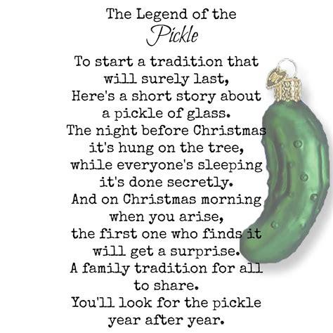 pickle ornament story lizardmedia co
