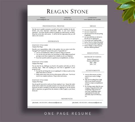 resume layouts free professional resume template for word and by printablesbylulu