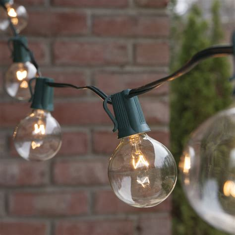 clear outdoor string lights patio lights commercial clear globe string lights 25