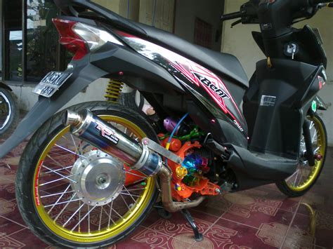 Modification Motor Beat Merah by Modifikasi Motor Honda Beat Modifikasi Motor Honda Beat