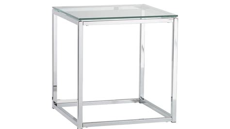 and tables smart chrome and glass side table cb2