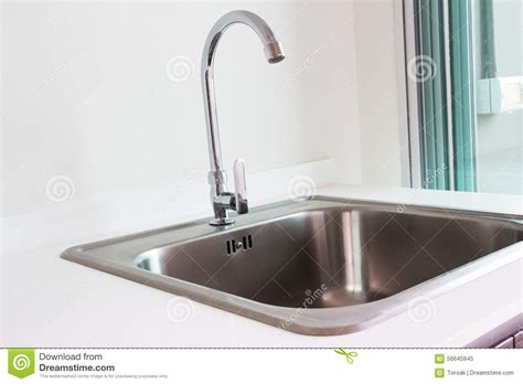 no water in kitchen sink water tap and sink stock photo image 56645945