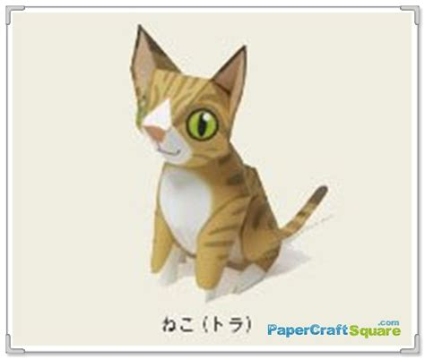 cat paper craft cat papercraft maruman papercraftsquare