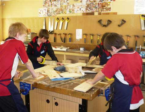 college woodworking secondary school years 7 10