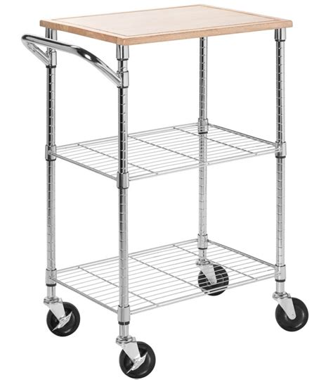 kitchen island rolling cart rolling kitchen cart chrome in kitchen island carts
