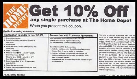 coupon code home depot coupon code coupon specialist