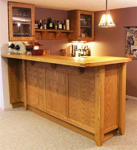 woodwork at home custom oak basement bar traditional home bar
