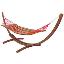 outdoor hammock with stand wooden curved arc hammock stand with cotton hammock outdoor garden patio ebay
