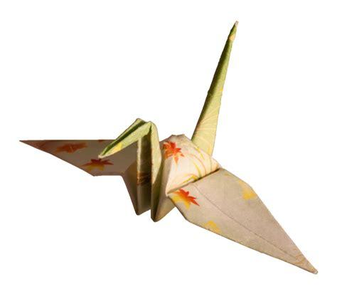 transparent origami paper file laitche origami cranes the beige one left png