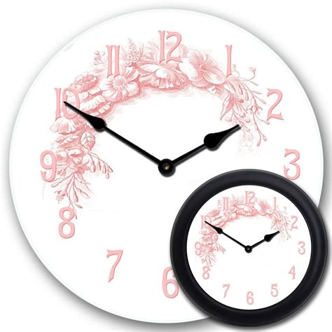 shabby chic clocks shabby chic pink clock the big clock store