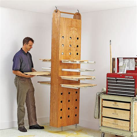 woodworker s journal plans drop drying rack woodworking plan from wood magazine