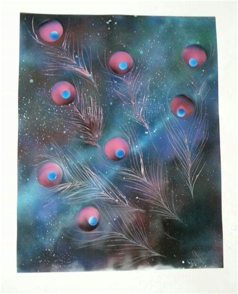 spray painting universe universe cosmic peacock spray paint by nate bockus