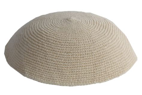 knit kippot knit 36 beige knit kippah item k36 skullcap