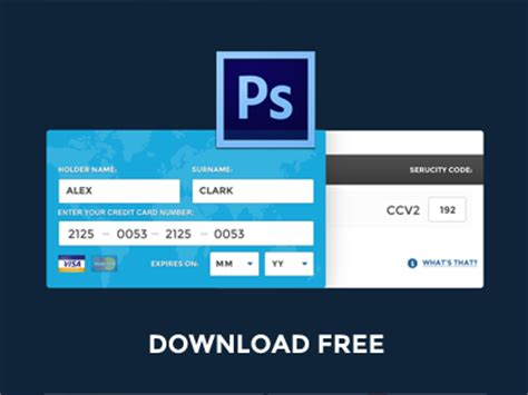make a free credit card free psd fill credit card data by pixeful themes