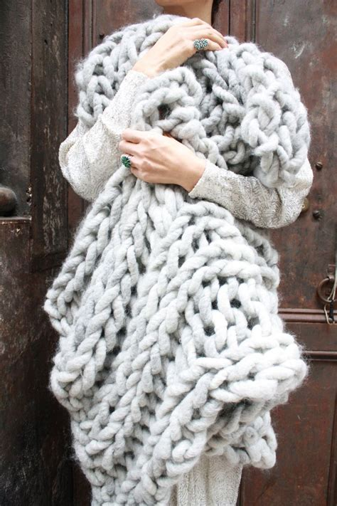 Diy Knit Kit Big Loop Merino Chunky Knit Blanket Or Rug