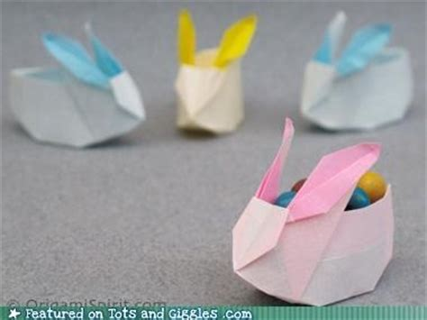 origami easter bunny basket origami easter bunny baskets holidays winter