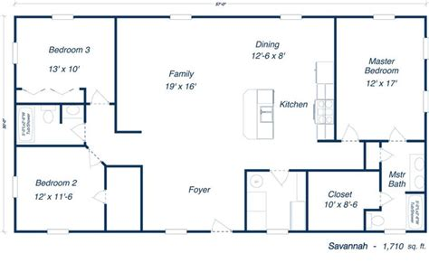 metal houses floor plans steel home kit plan open layout floorplans