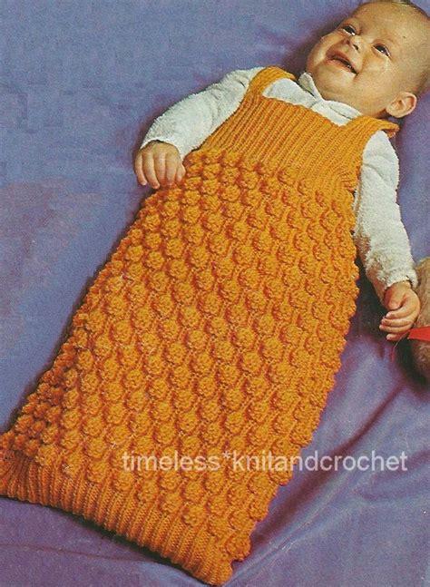 baby sleeping bag knitting pattern uk vintage knitting pattern for a warm cosy baby babies