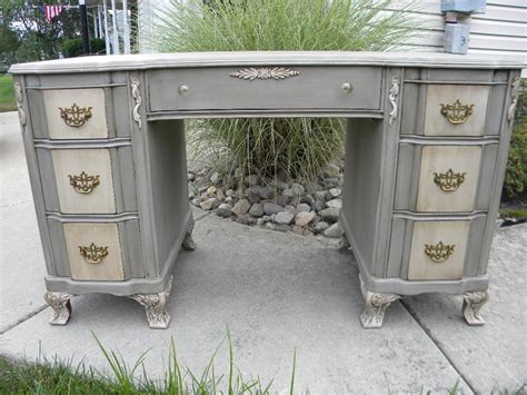 chalk paint executive desk painted desk sloan chalk paint in grey