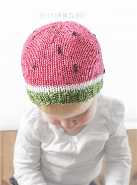 baby hat measurements knit watermelon baby hat knitting pattern knit hat pattern for