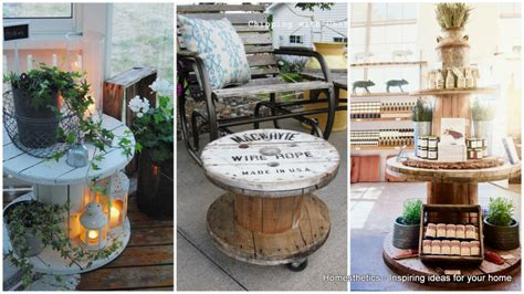 Modern Industrial Home Decor 16 beautiful and adaptable spool table designs