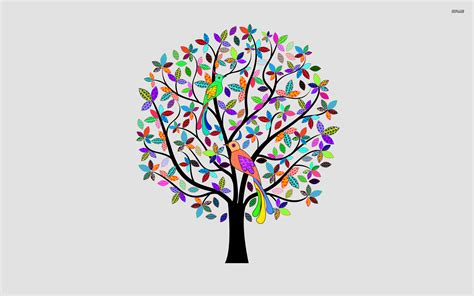 colorful tree wallpaper vector wallpapers 1220