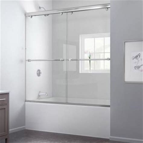 bathtub shower doors home depot dreamline charisma 60 in x 58 in frameless bypass tub