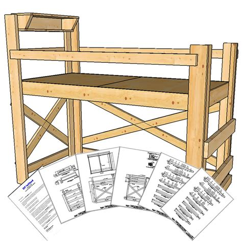 bed loft plans size loft bed plans medium height op