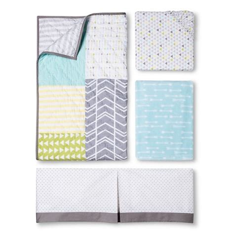 target nursery bedding sets circo 4pc crib bedding set geo patchwork target