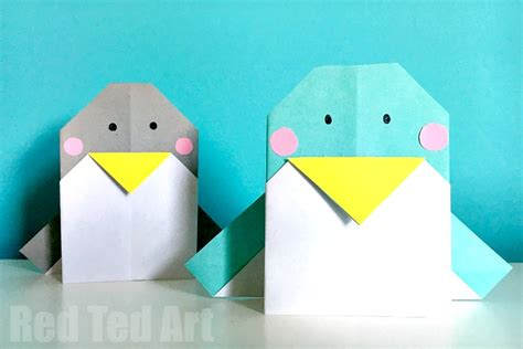 easy origami penguin easy origami penguin cards ted s