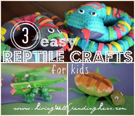 3 Easy Reptile Crafts For Necktie Snake Craft