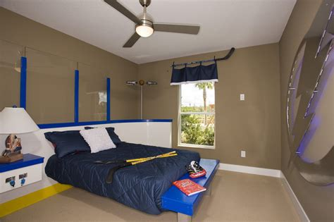 hockey bed frame hockey room eclectic ta by cardel designs