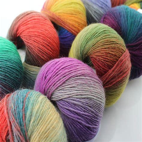 knitting in new yarn 2016 new 5balls lot rainbow color knitting wool yarn