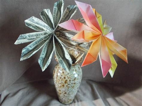 origami dollar flower money origami flowers myideasbedroom